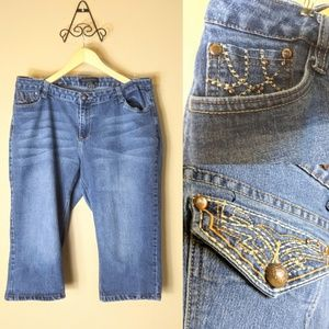 BACCINI plus sz 18W cropped blue jeans